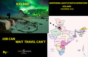Iceland - Indian Boy Dream of Northern Lights