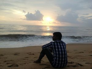 Serene Sunset at Ullal Beach!!