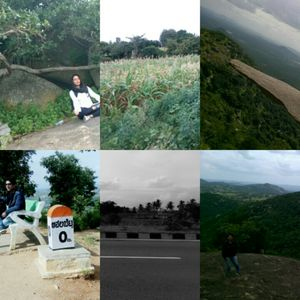 You stand on the edge n you  see the depth- Avalabetta  100 km drive from Blore