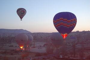 Up in the Air Over Cappadochia Skies
