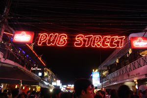 Ladyboy show at Pub Street, Siem Reap